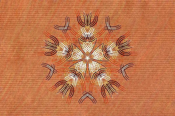 African Painting - Anthropomorphic Mandala by Hakon Soreide