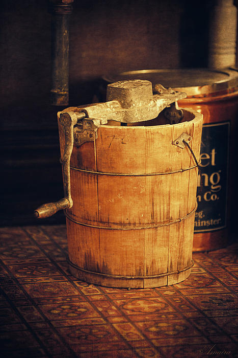 Vintage Photograph - Antique Ice Cream Maker by Maria Angelica Maira