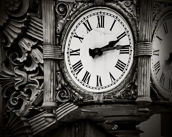 Clock Photograph - Antique Time by April Lee
