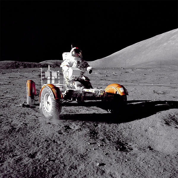 Apollo 17 Photograph - Apollo 17 Moon Rover Ride by Movie Poster Prints