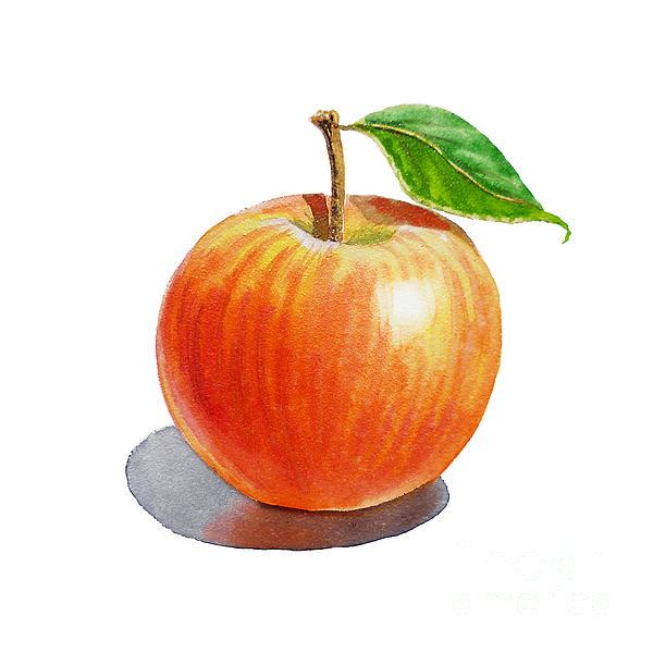 Apple Painting - Artz Vitamins Series An Apple by Irina Sztukowski