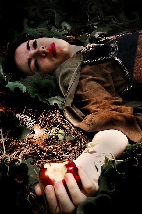 Snow White Photograph - Apple Of Death by Cherie Haines