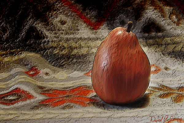 Fruit Digital Art - Apple Pear by David Simons