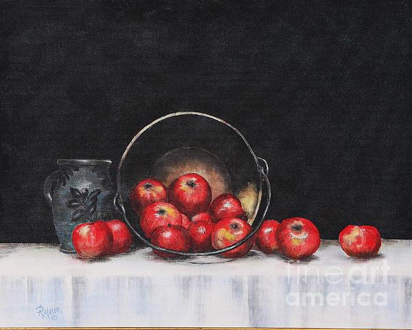Apples Painting - Apple Still Life by Rita Miller