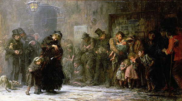 1874 Painting - Applicants For Admission To A Casual by Sir Samuel Luke Fildes