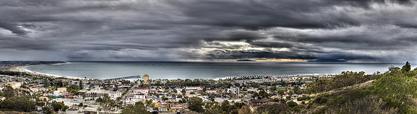 Storm Photograph - Approaching Storm Hdr Panorama  by Joe  Palermo