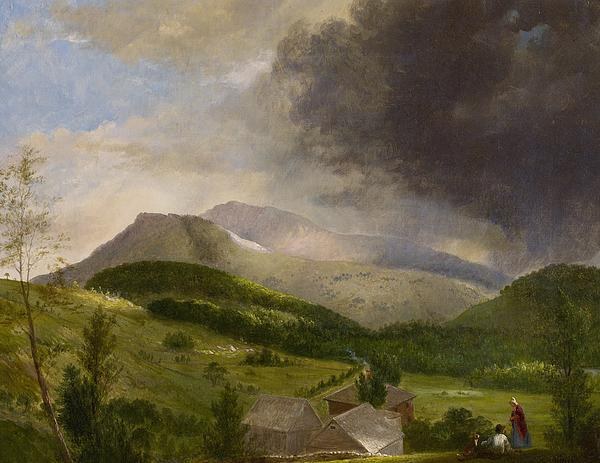 Couple Painting - Approaching Storm  White Mountains by Alvan Fisher