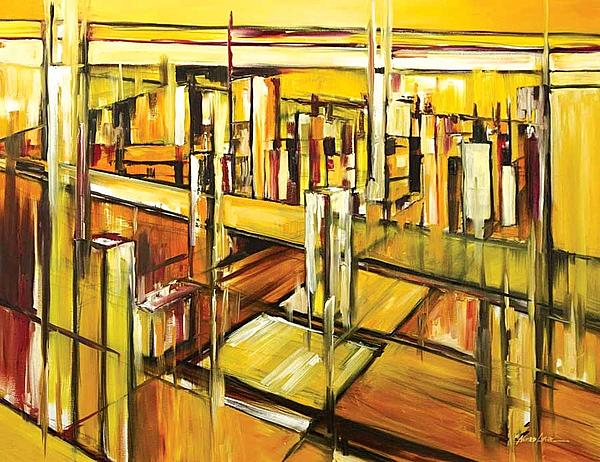 Abstract Painting - Architecture by Ahmed Amir