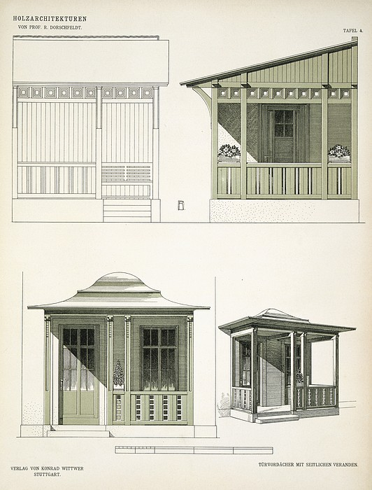 Architecture Drawing - Architecture In Wood, C.1900 by Richard Dorschfeldt