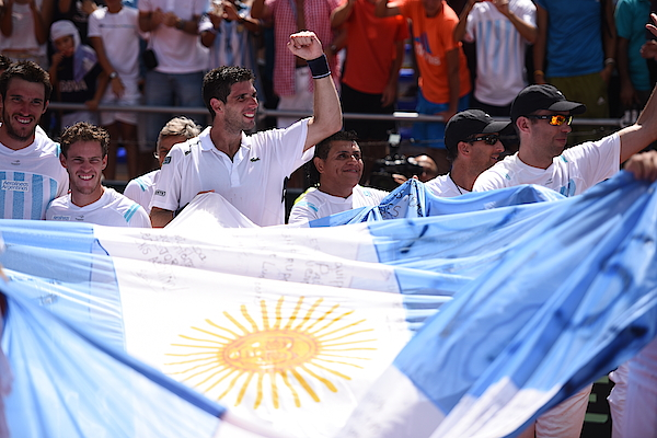 Argentina V Brazil - Davis Cup 2015 Day 4 Photograph by Amilcar Orfali