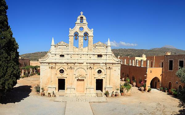 Arkadi Monastery In Crete Photograph by Paul Cowan