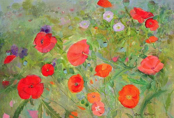 The Artist's Garden Painting - Arpeggiando by Ann Patrick