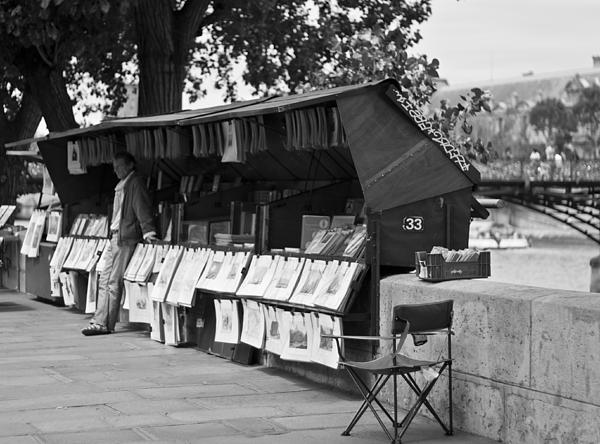 Artist Photograph - Art Seller On The Left Bank - Paris People Series by Georgia Fowler