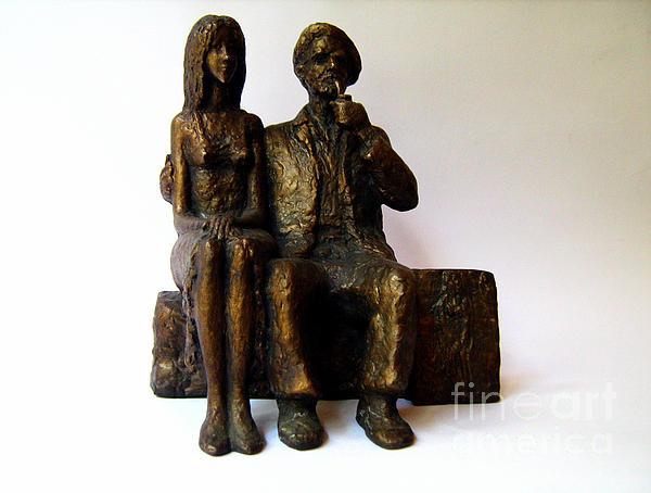 Artist Sculpture - Artist And His Model by Nikola Litchkov