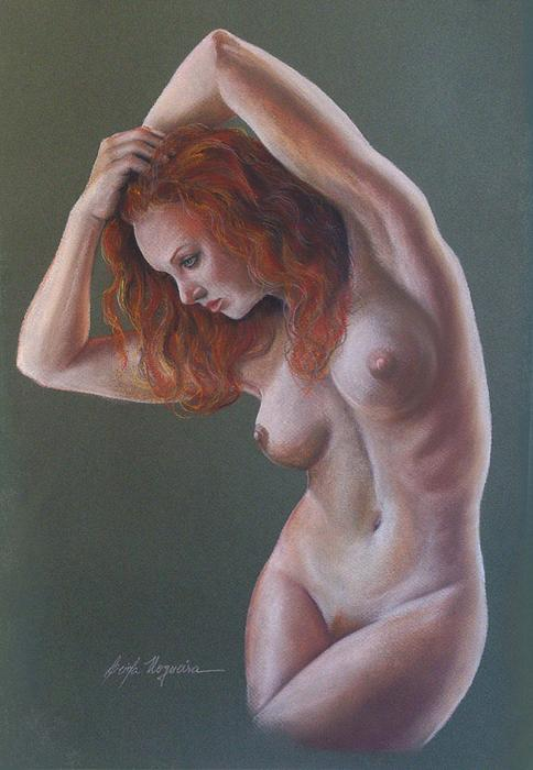 Nude Painting - Artistic Nude by Leida Nogueira