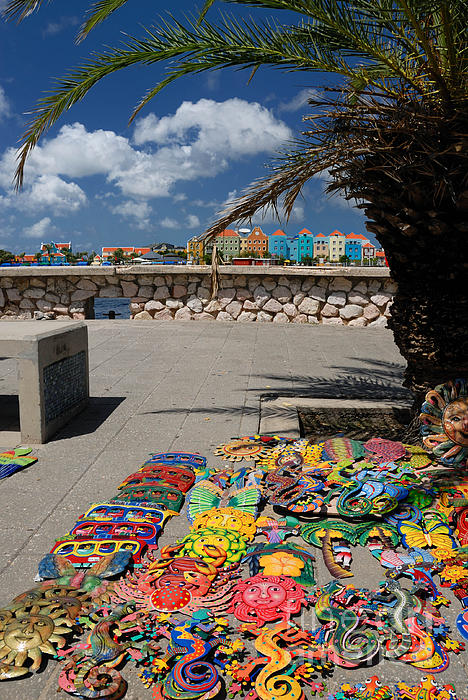 Willemstad Photograph - Artwork At Street Market In Curacao by Amy Cicconi