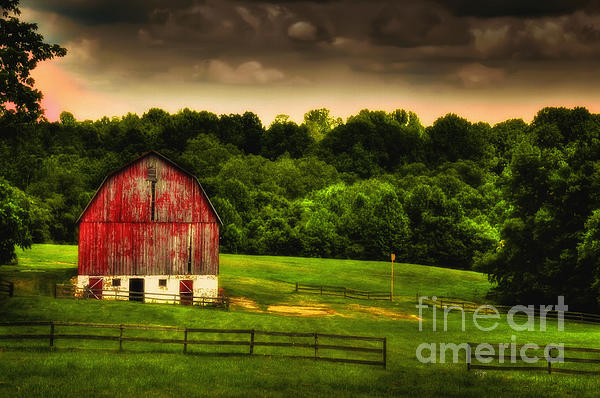 Barn Photograph - As Darkness Falls by Lois Bryan