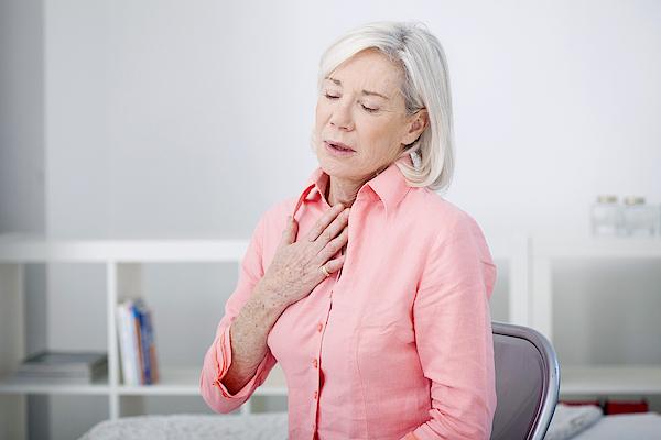 Asthma, Elderly Person Photograph by Bsip/uig