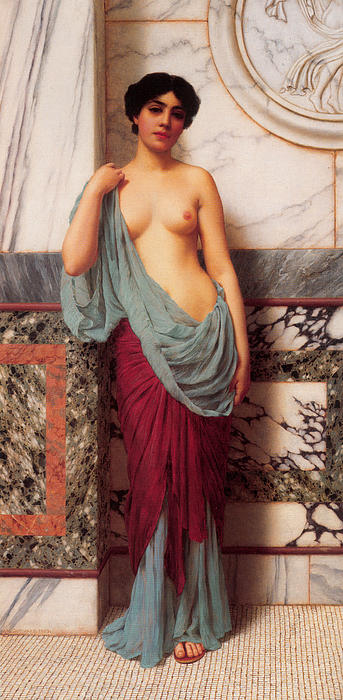 John William Godward Digital Art - At The Thermae by John William Godward