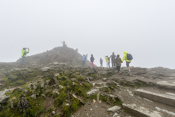 At The Very Summit Of Mount Snowdon In Wales Photograph by Mrtom-uk