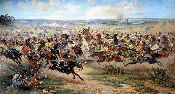 Battle Digital Art - Attack Of The Horse Regiment by Victor Mazurovsky