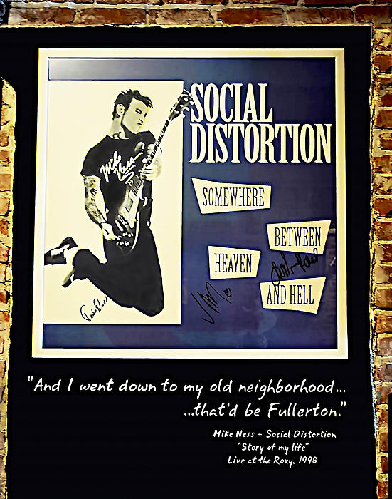 Mike Ness Photograph - Autographed Poster Of Rock Legend Mike Ness  by Renee Anderson