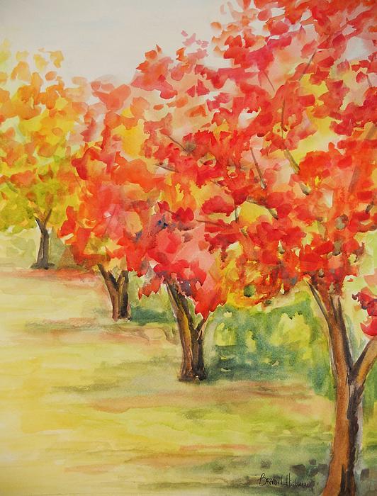 Tree Painting - Autumn by Brandi  Hickman