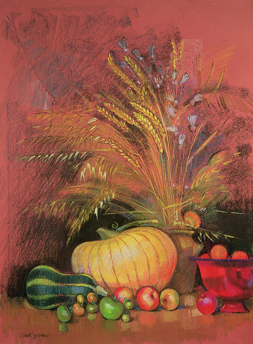 Still Life Painting - Autumn Harvest by Claire Spencer
