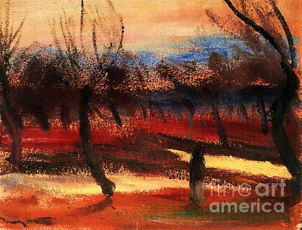 Pd Painting - Autumn Landscape by Pg Reproductions