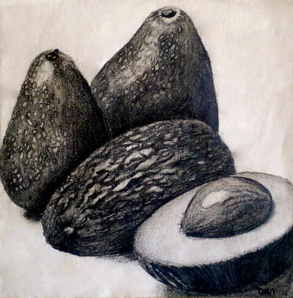 Fruit Painting - Avocados by Debi Starr