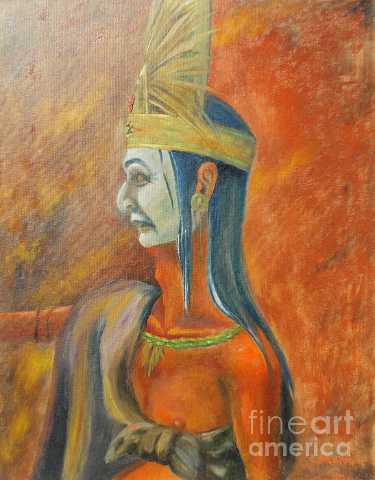 Aztec Painting - Axooxco by Lilibeth Andre