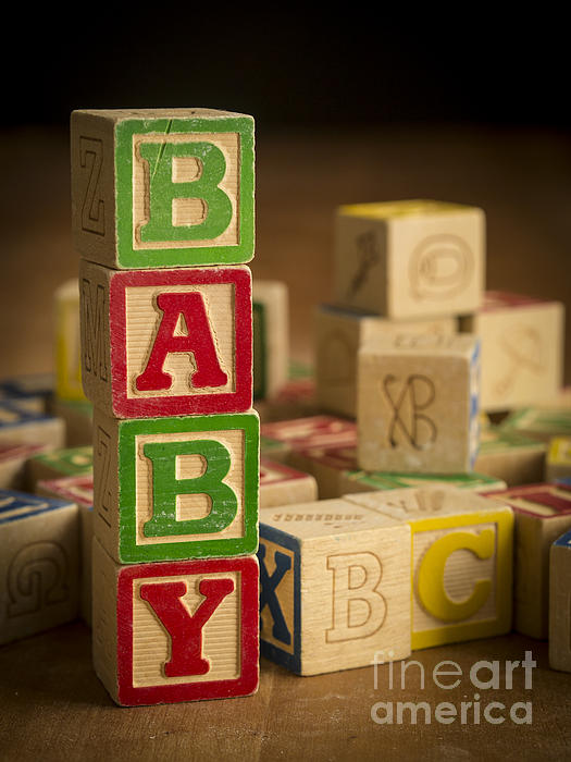 Blocks Photograph - Baby Blocks by Edward Fielding