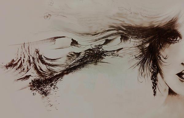 Female Drawing - Babylon by Rachel Christine Nowicki