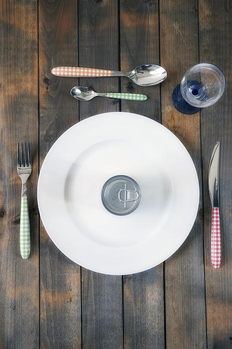 Tin Photograph - Bachelors Dinner by Joana Kruse