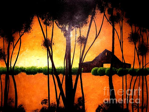 Contemporary Painting - Back At The Barn by Kyle  Brock