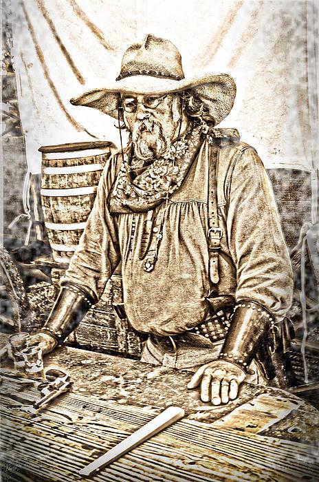 Sepia Tone Photograph - Bad Times Pilgrim Gotta Be Ready by Randall Branham