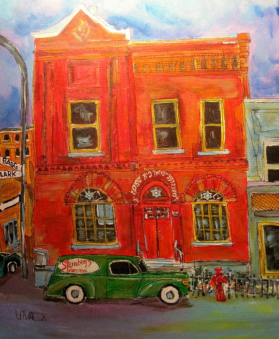 Montreal Painting - Bagg Street Shul by Michael Litvack