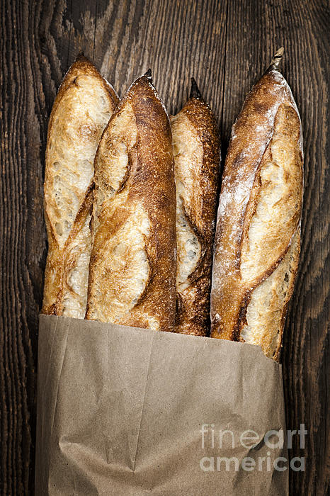 Bread Photograph - Baguettes  by Elena Elisseeva