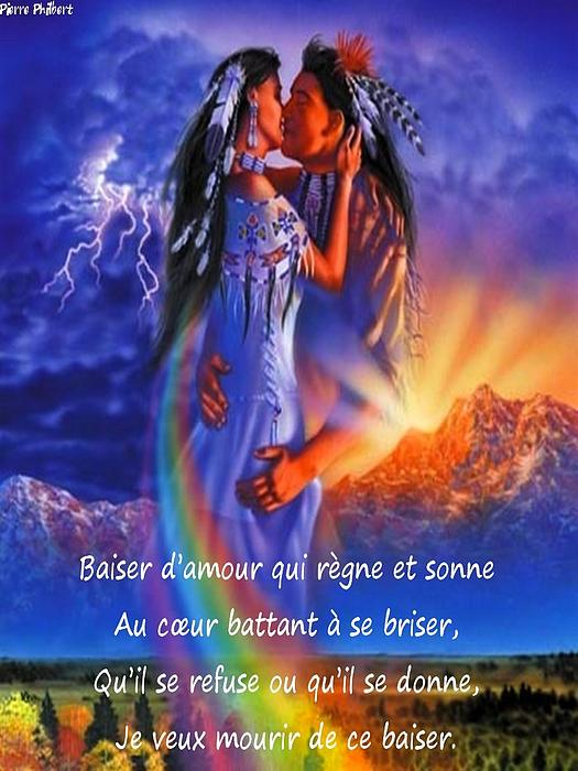 Amour Photograph - Baiser Damour by Pierre Phildert