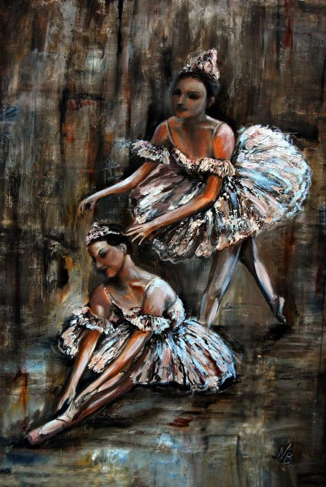 Ballet Painting - Ballerina by Nancy Bradley