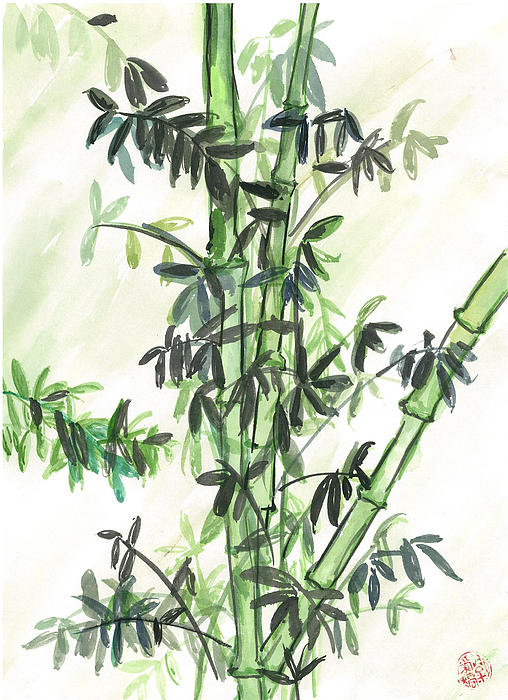 Bamboo Painting - Bamboo by Amberlyn How