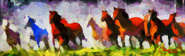 Wild Horses Digital Art - Band Of Horses Tnm by Vincent DiNovici