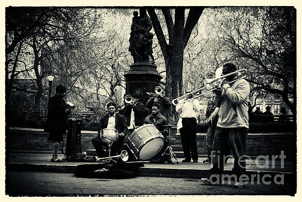 Filmnoir Photograph - Band On Union Square New York City by Sabine Jacobs