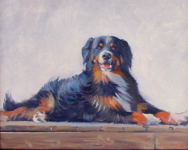 Dog Painting - Bandit by Dianne Panarelli Miller