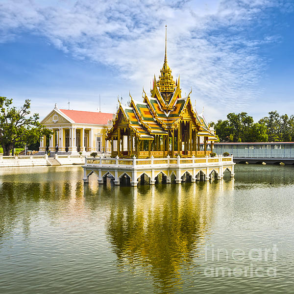 Architecture Photograph - Bang Pa In Palace Thailand by Colin and Linda McKie