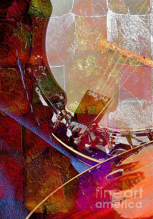 Acoustic Photograph - Banjo And Friend Digital Banjo And Guitar Art By Steven Langston by Steven Lebron Langston