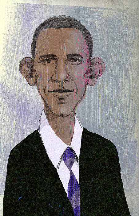 President Drawing - Barack Obama by Steve Dininno