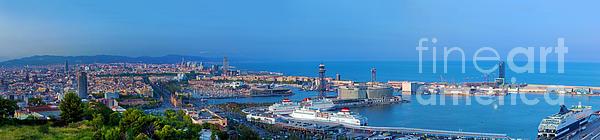Barcelona Photograph - Barcelona Panorama by Michal Bednarek