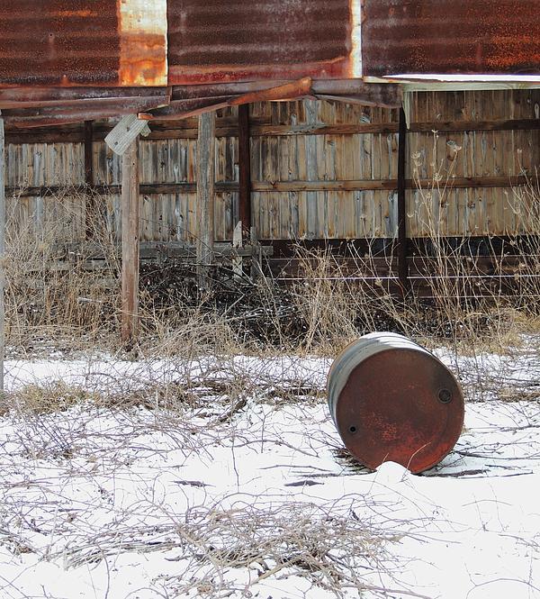 Old Barn And Rusted Barrel Photograph - Barn #41 by Todd Sherlock