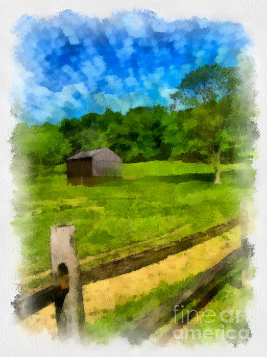 Allegheny County Digital Art - Barn At Hartwood Acres by Amy Cicconi